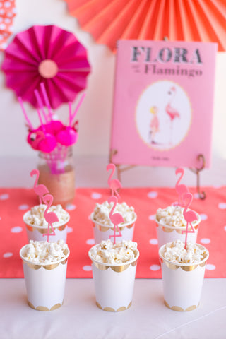 Flamingo themed party snacks