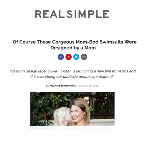 real simple mommy and me swimsuit Olivia and ocean swimwear matching moms kids