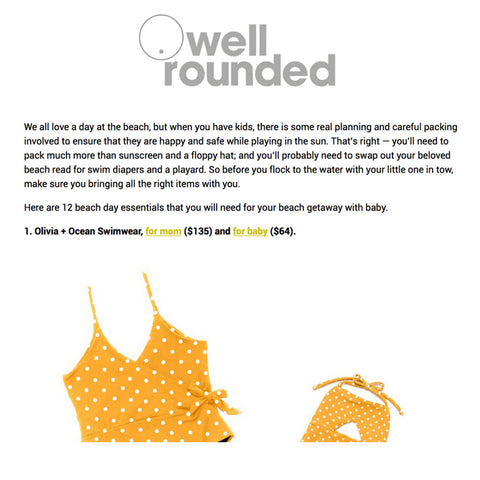 wellrounded NY swimwear Olivia and ocean swimsuit matching mommy and me