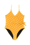 Mom Bod One Piece Mustard Dot