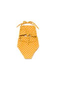 Girl's Malibu One Piece Mustard Dot - Olivia + Ocean