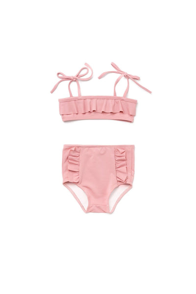 girls high waisted bikini 2t 3t 4t 5t 6t 7t 8 years rose blush olivia and ocean swimwear swimsuit kids