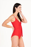 Mom Bod One Piece Ruby Red - Olivia + Ocean