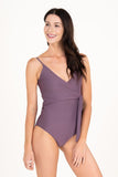 Mom Bod One Piece Toasted Mauve - Olivia + Ocean