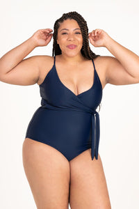 Mom Bod One Piece Marine Navy - Olivia + Ocean