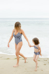Mom Bod One Piece Gingham - Olivia + Ocean