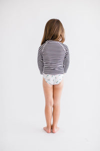 Hermosa Rash Guard Striped - Olivia + Ocean