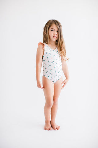 Girl's Laguna One Piece Birds of Paradise
