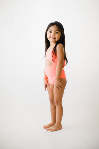 Girl's Malibu One Piece Tangerine