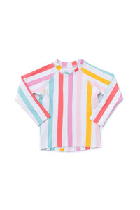 Hermosa Rash Guard Rainbow Stripe - Olivia + Ocean
