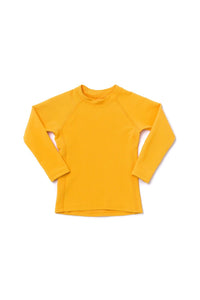 Hermosa Rash Guard Golden Yellow Ribbed - Olivia + Ocean