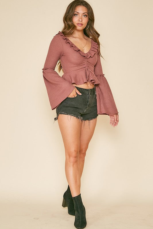 Mauve All Night Blouse