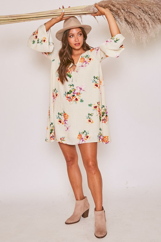 Skip In Floral Babydoll Dress