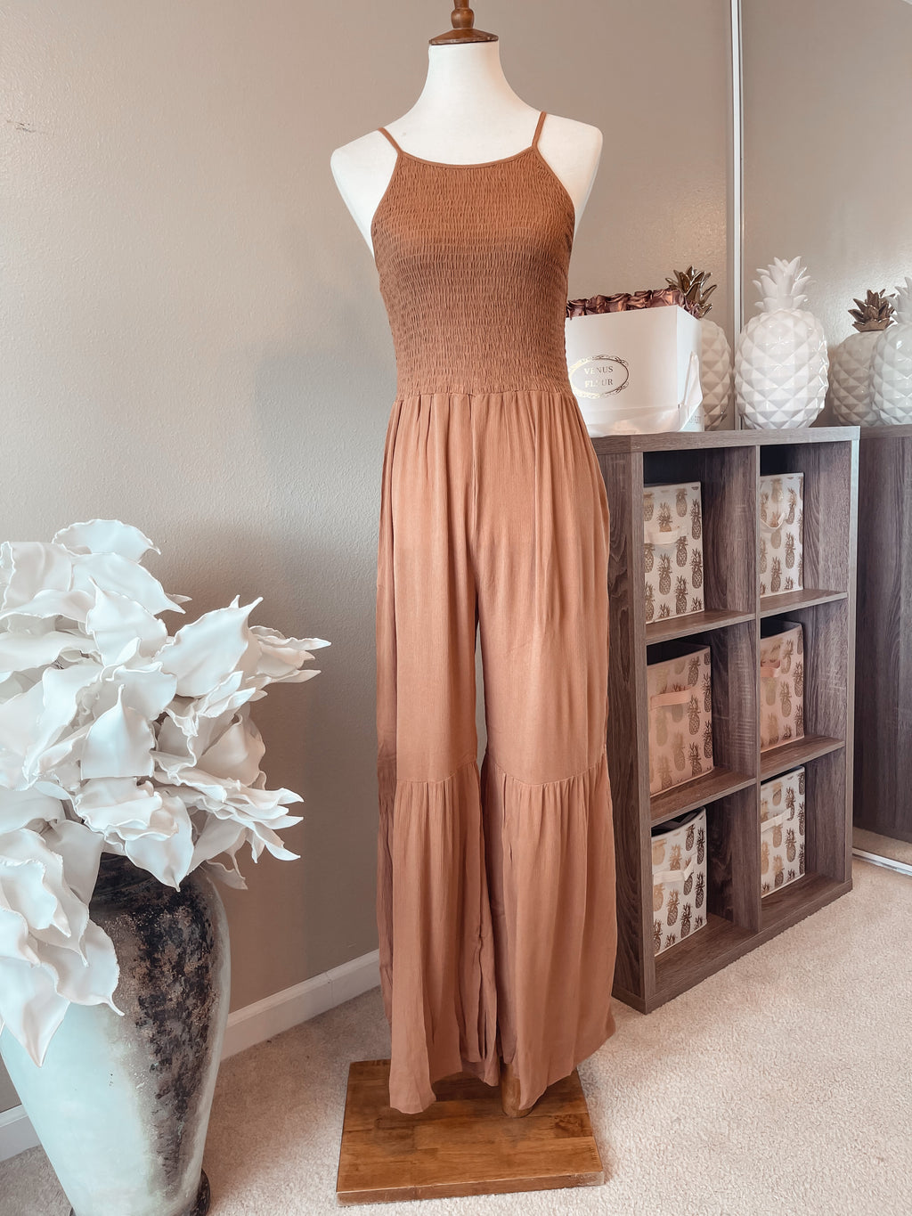 A Taste of Caramel Jumpsuit