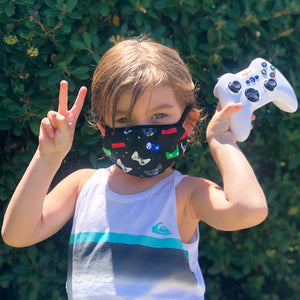 Kids Cotton Face Mask Two Pack