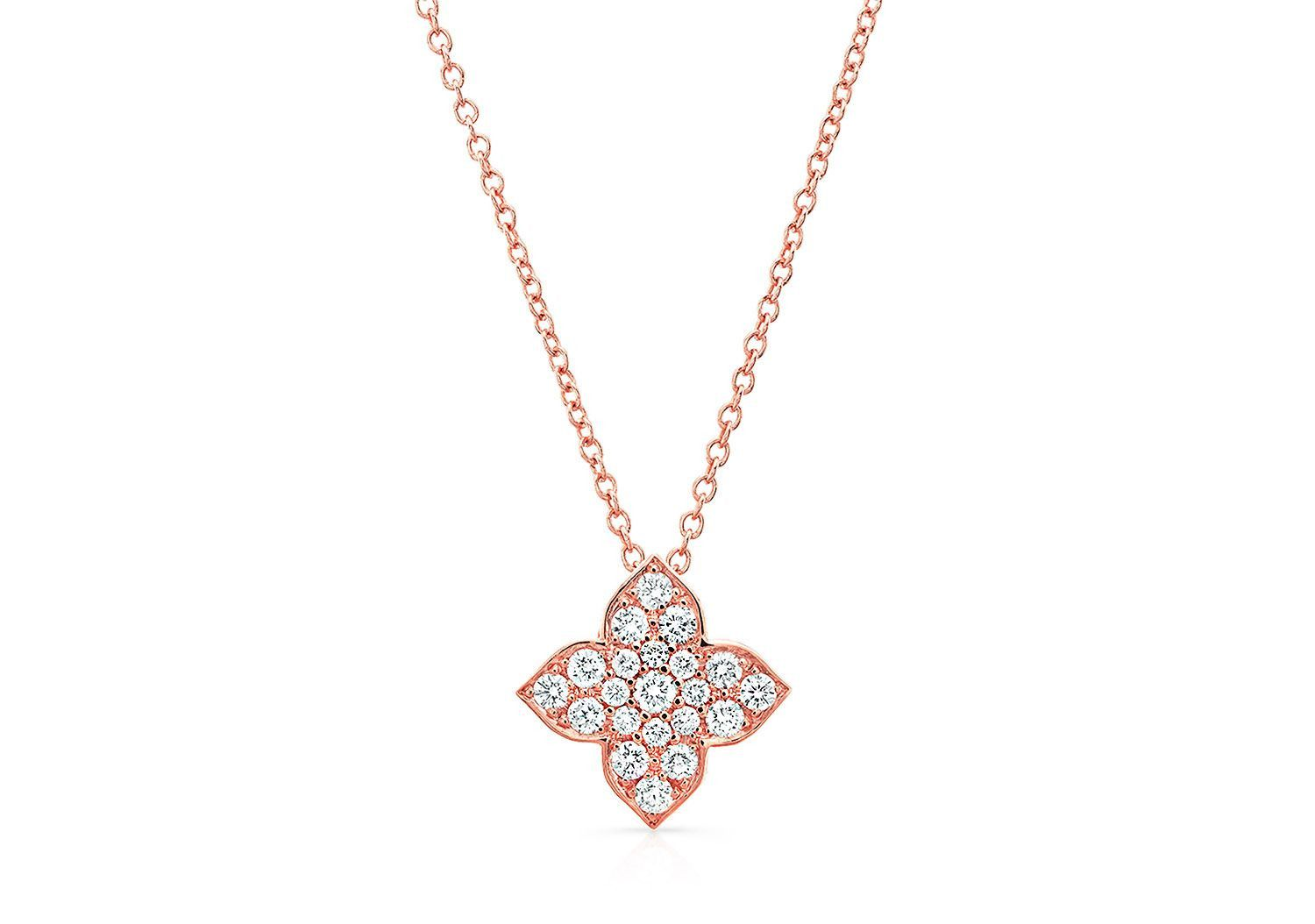 MAKE LOVE LOTUS DIAMOND PENDANT - AMRIT Jewelry