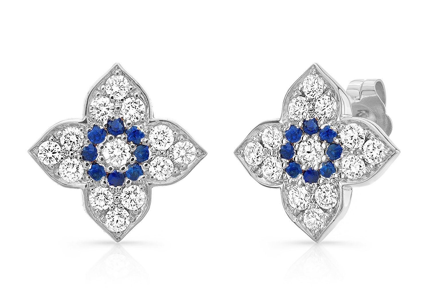 MAKE LOVE LOTUS DIAMOND EARRINGS - AMRIT Jewelry