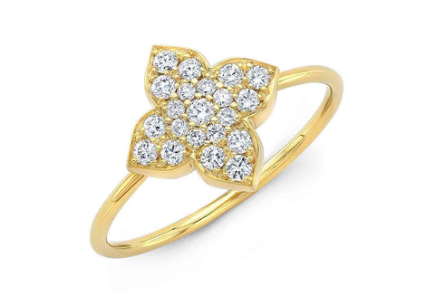 DIAMOND CROSS OVER RING