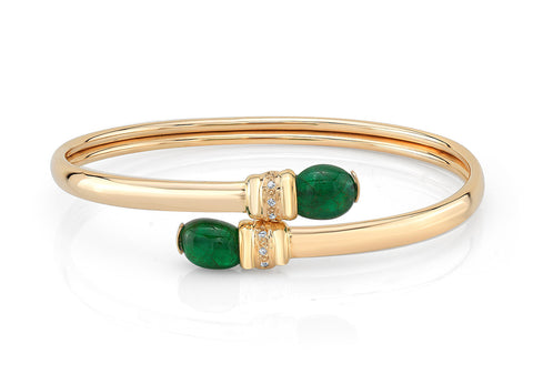 BENDY EMERALD CUFF