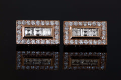 CARRE CUT DIAMOND EARRINGS