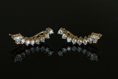DIAMOND ARROW EAR CUFFS