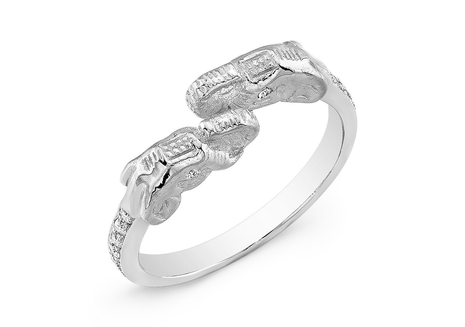 rings lucky double s sterling engagement silver elephant eve addiction ring