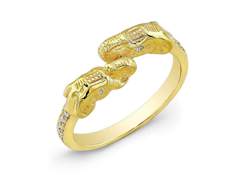 ELEPHANT DIAMOND RING - AMRIT Jewelry