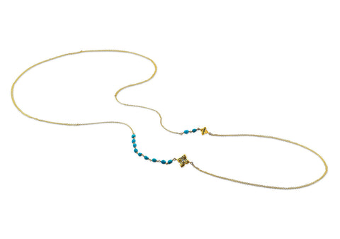 MAKE LOVE TURQUOISE BODY CHAIN