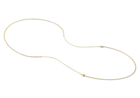 HEART DIAMOND LARIAT NECKLACE