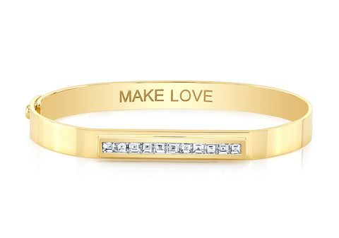 MAKE LOVE BANGLE - BLACK EDITION
