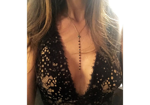 MAKE LOVE BLACK DIAMOND BODY CHAIN - AMRIT Jewelry