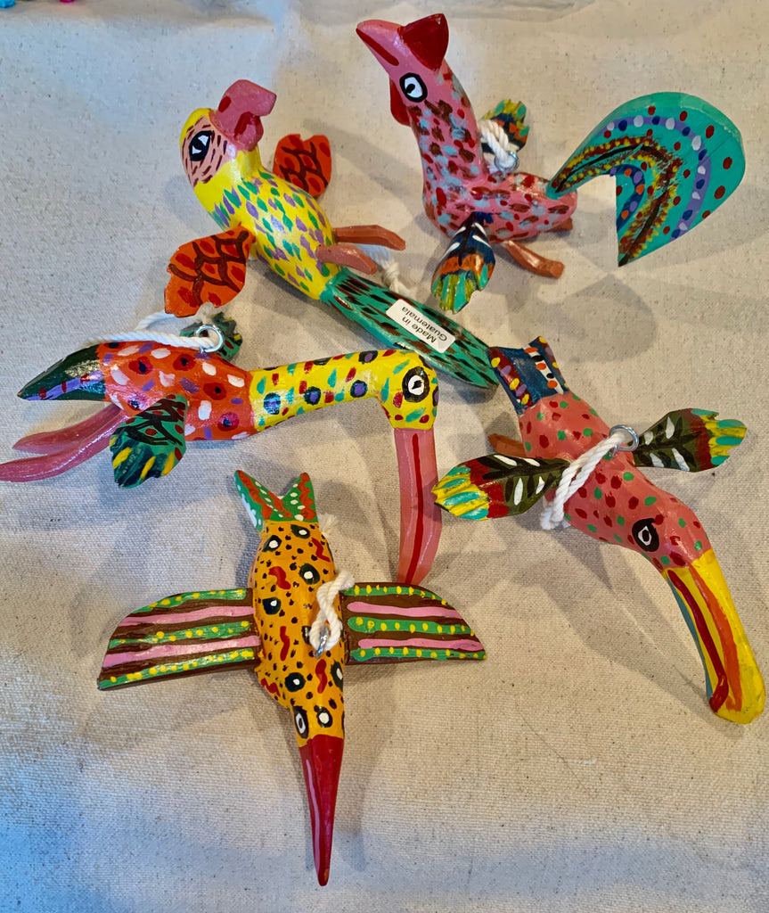 Folk art whimsical birds