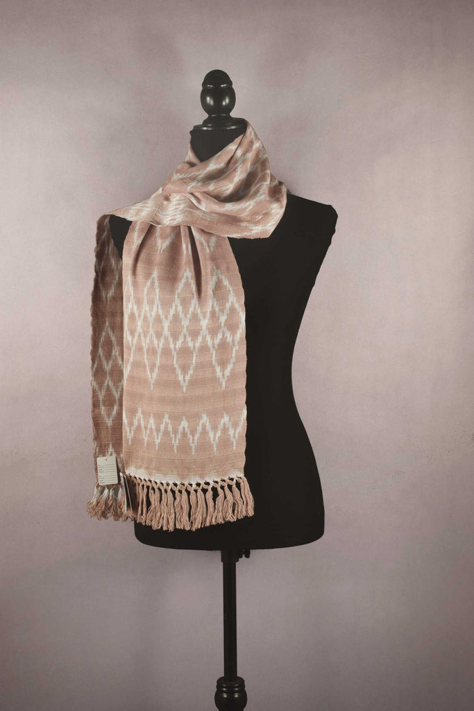 Natural dyes ikat scarf