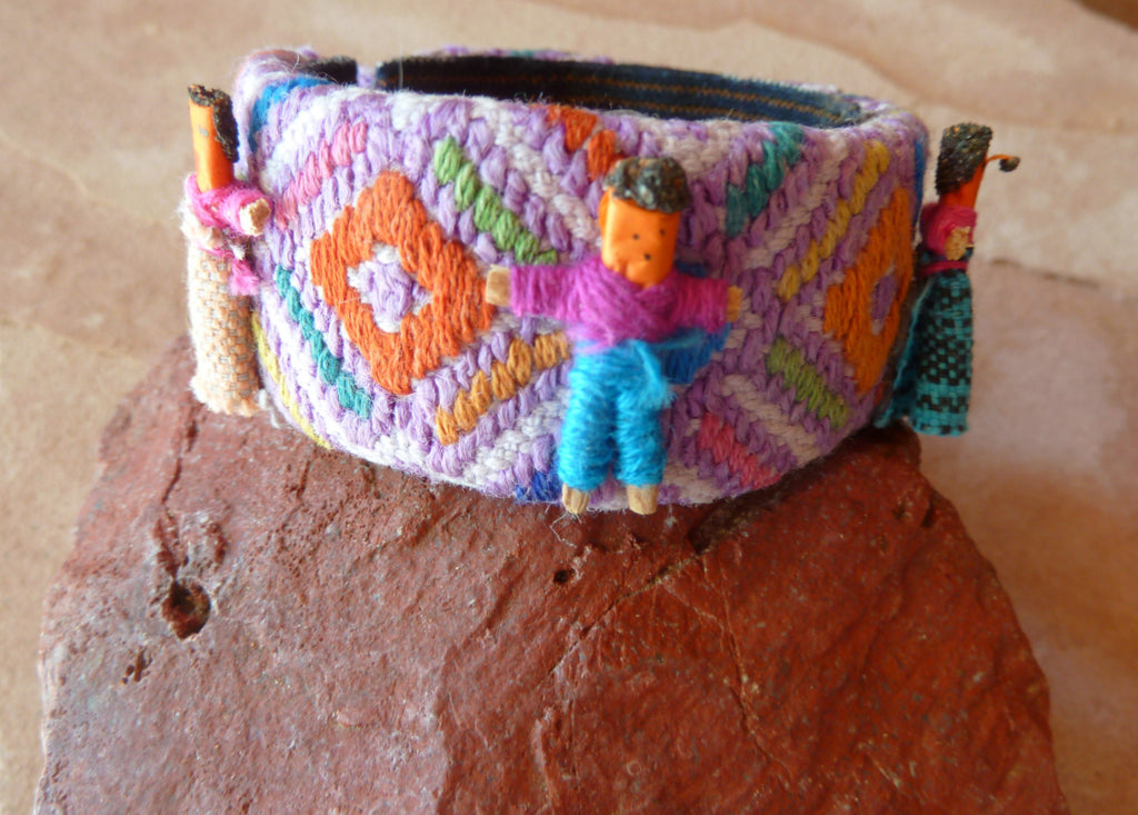 traditional textile cuff bracelet
