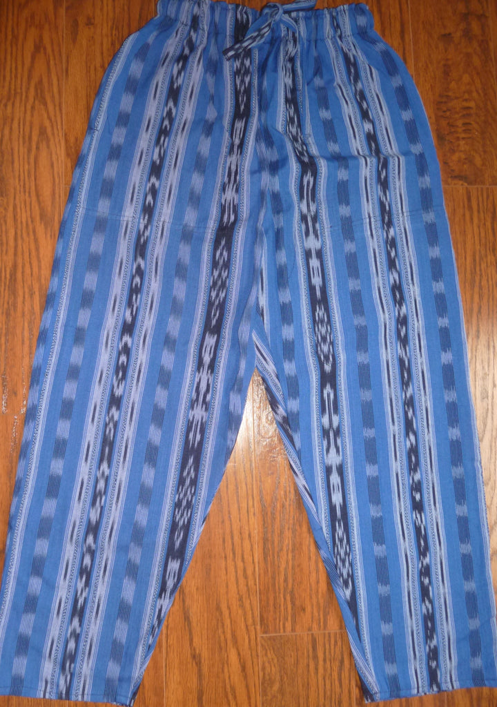 Blue ikat pants