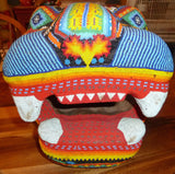 Large Huichol Beaded Jaguar