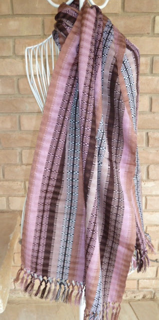 Light hand-woven cotton shawl 7