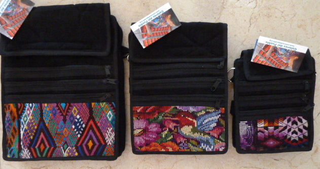 Best Seller!  Organizer pouch w/ multiple pockets and long strap in black