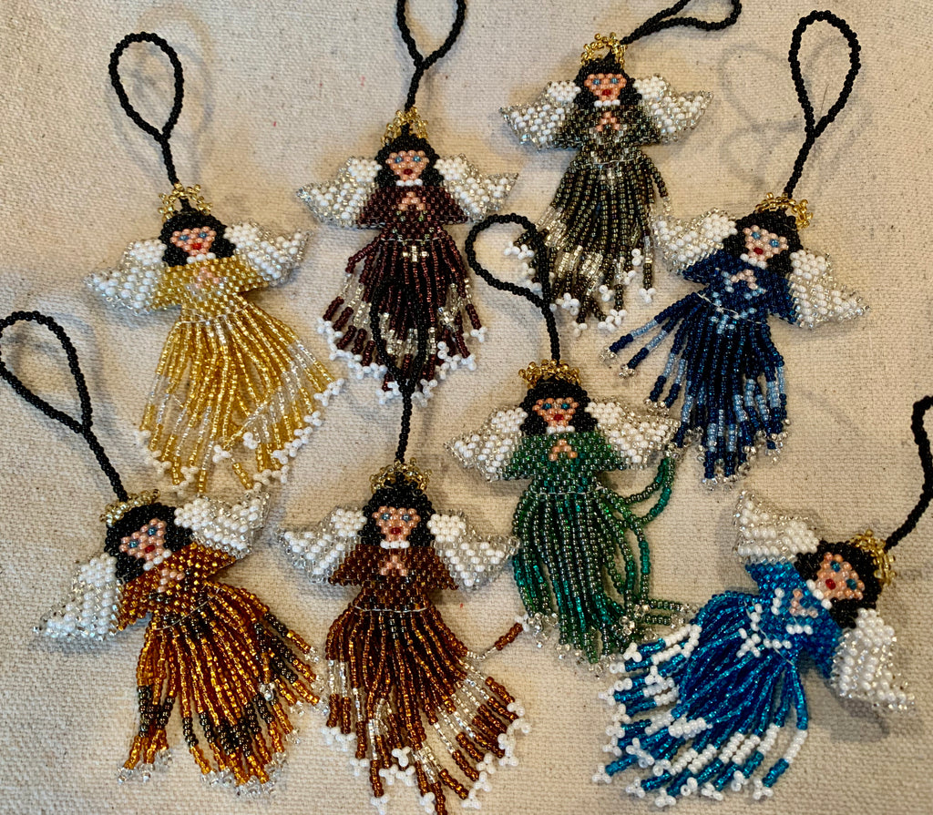 Beaded angel ornaments