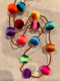 Peruvian Pom Pom necklaces