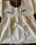 Mexican embroidered peasant blouse
