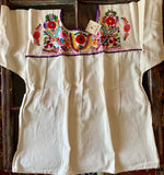 Mexican embroidered peasant blouse 2