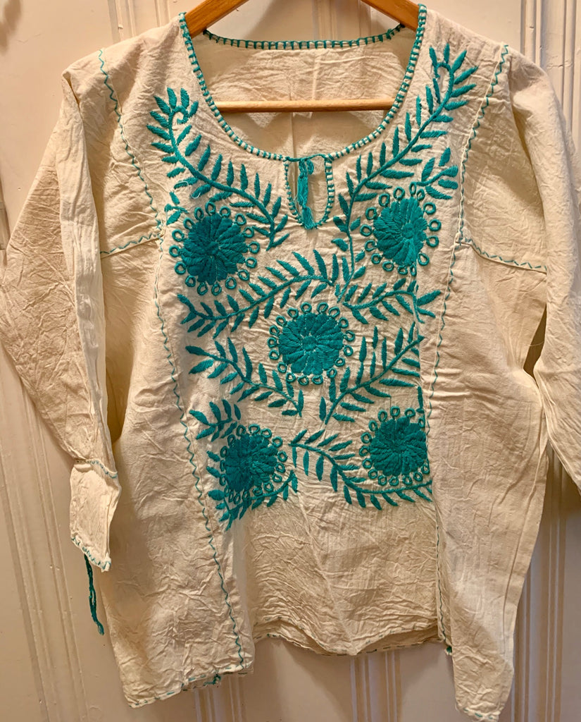 Oaxacan hand-embroidered blouse 2