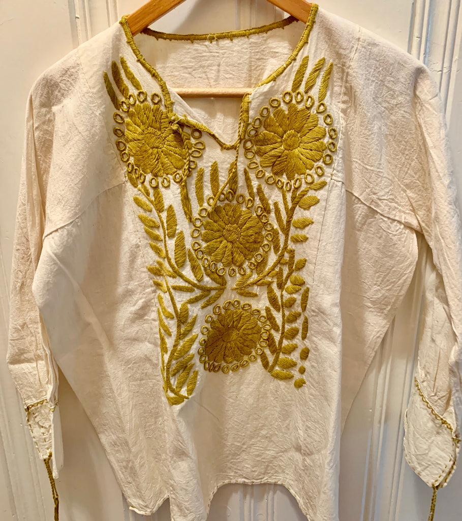 Oaxacan hand-embroidered blouse 3