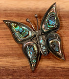 Abalone butterfly pin