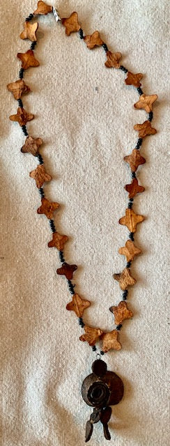 Unique orange peel necklaces