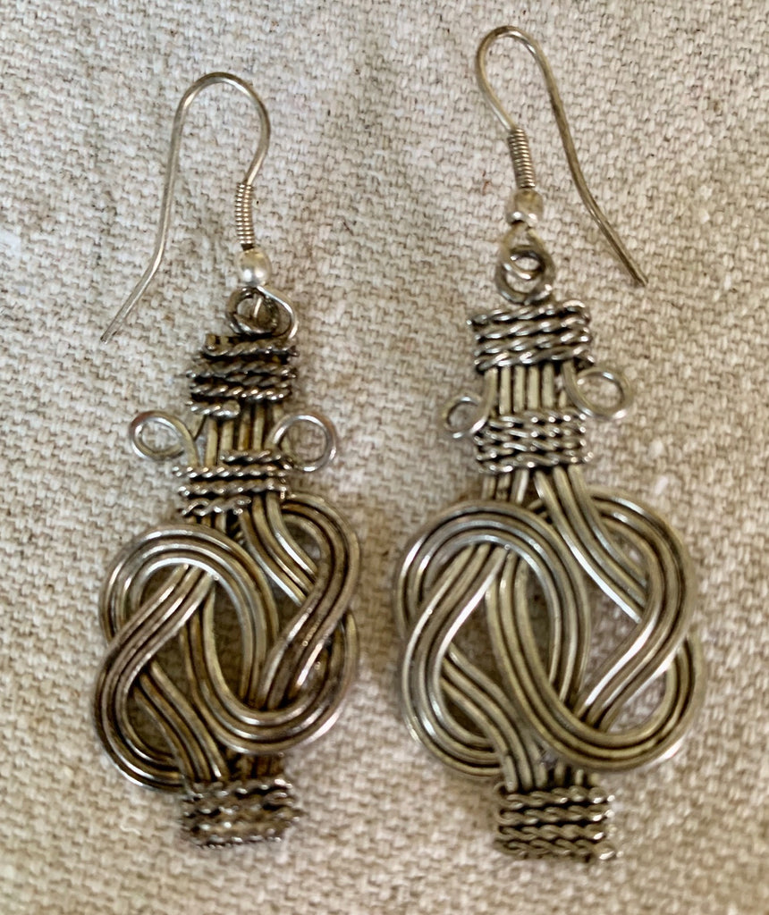 Buddah knot earrings