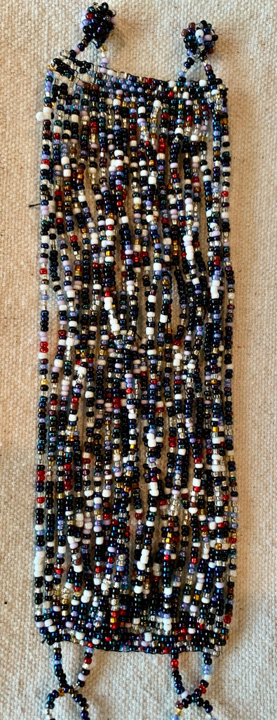 Multi-strand glass bead bracelet