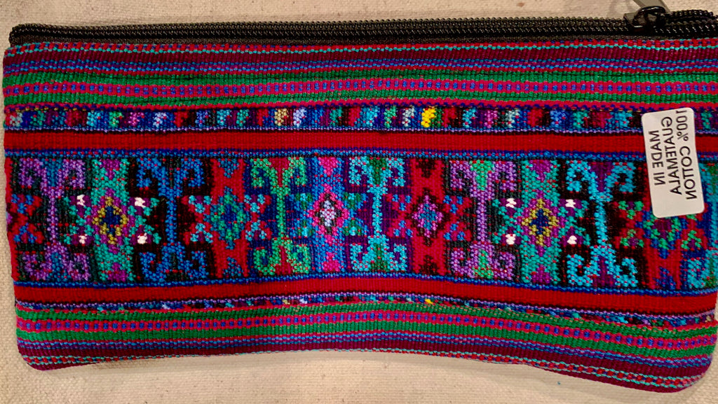 Pouch made from traditional Mayan textiles #5
