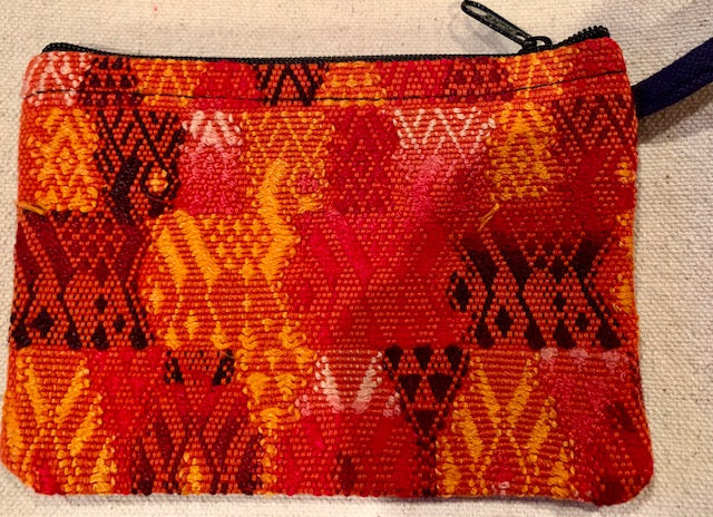 Pouch made from traditional Mayan textiles #10